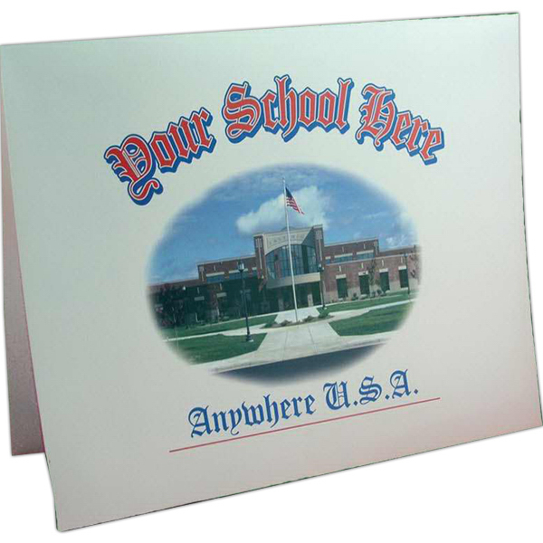 Personalized Full Color Certificate Folder
