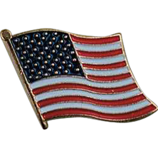 Printed USA Flag Pin