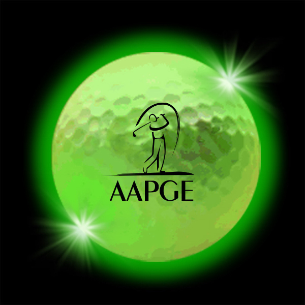 Customized Green Lumi Ball LED Golf Balls