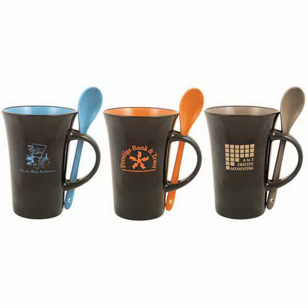 Imprinted Latte Spoon 12 oz. mug