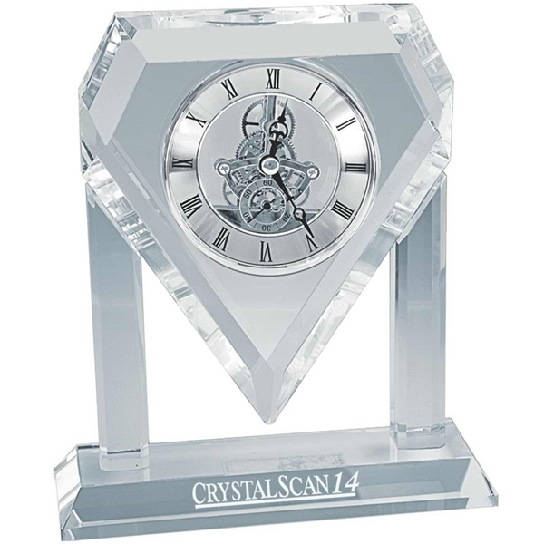Printed Jumbo crystal gear clock