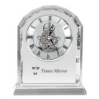 Promotional Jumbo crystal gear clock