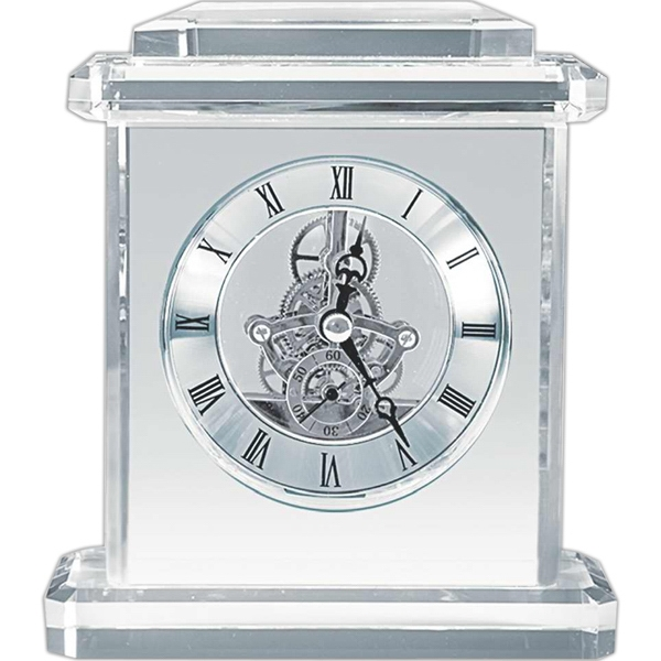 Personalized Jumbo crystal desk clock