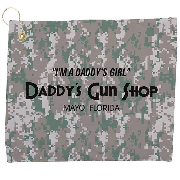 Custom Small Camo Golf Towel