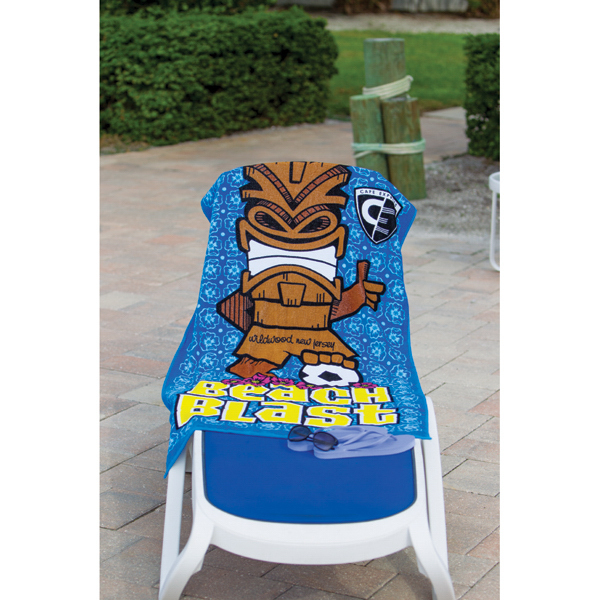 Imprinted Custom Fiber Reactive Beach Towel