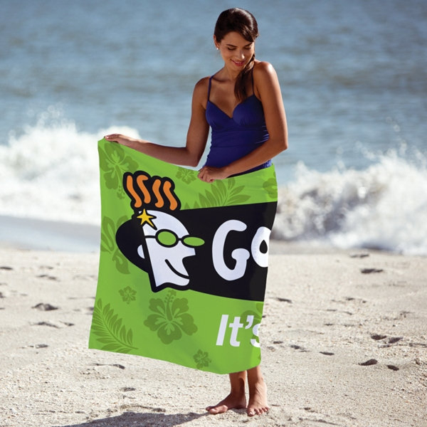 Printed Custom Fiber Reactive Beach Towel