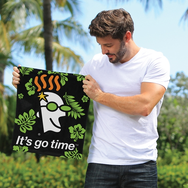 Customized Custom Fiber Reactive Rally Towel