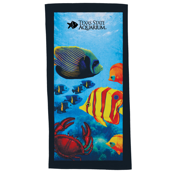 Customized 10lb. Stock Design Beach Towels