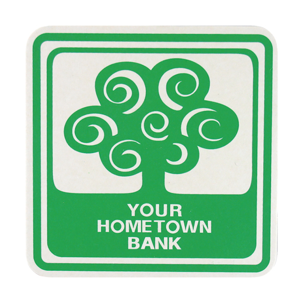 Imprinted Pulp Board Coasters - 4 inches