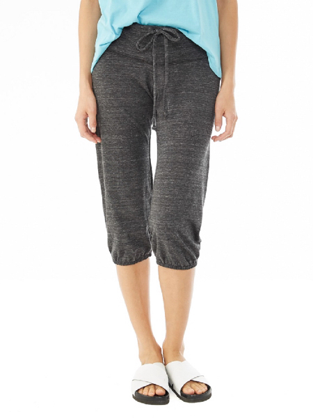 Imprinted Women's Eco-Heather Cropped Pants