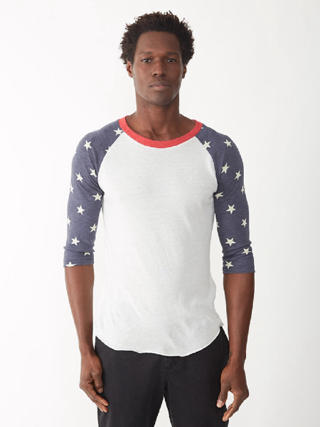 Promotional Men's Printed Baseball Tee