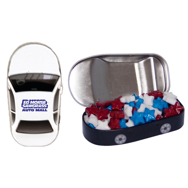 Personalized Car Mint Tin with Candy Stars