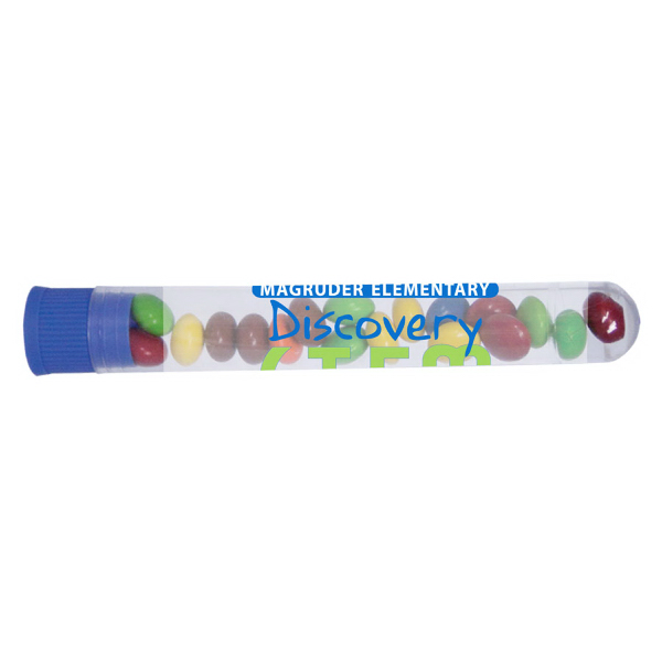 Custom Test Tube with Chocolate Littles with Blue Cap