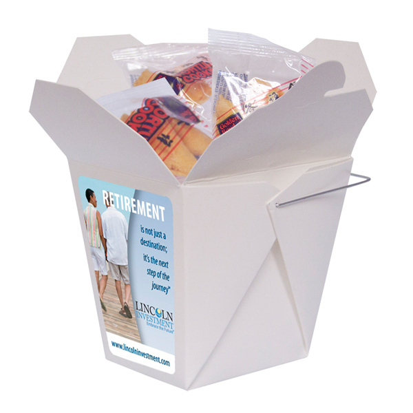 Promotional Fortune Cookie Box with Fortune Cookies
