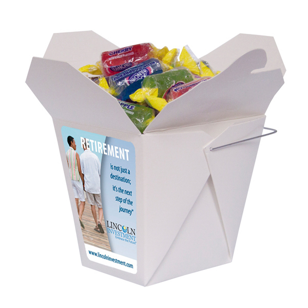 Imprinted Fortune Cookie Box with Jolly Ranchers