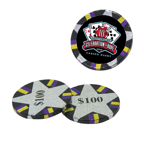 Customized Chocolate Poker Chips