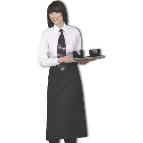 Personalized Full Bistro 1-Pocket Black Apron