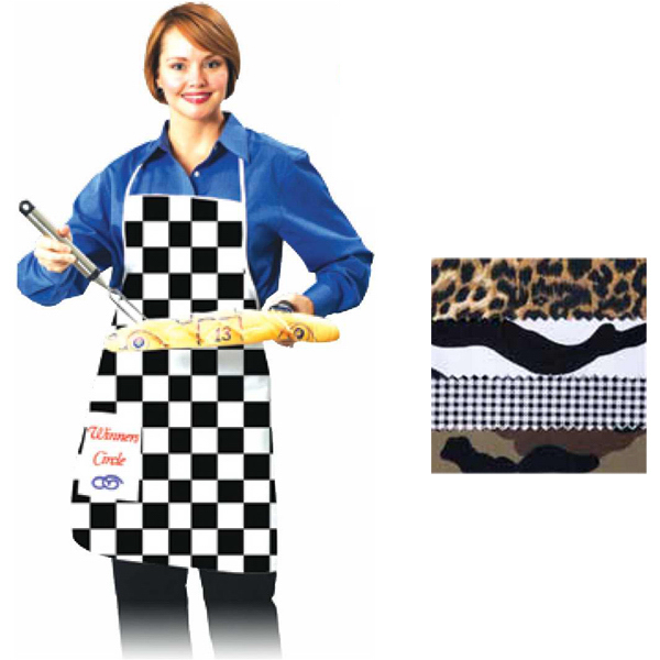 Promotional Checkered Flag Apron with Pocket