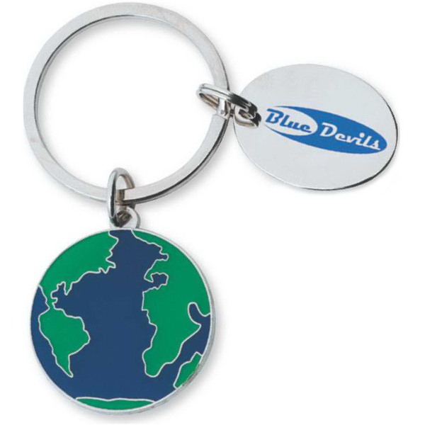 Custom Globe Key Ring