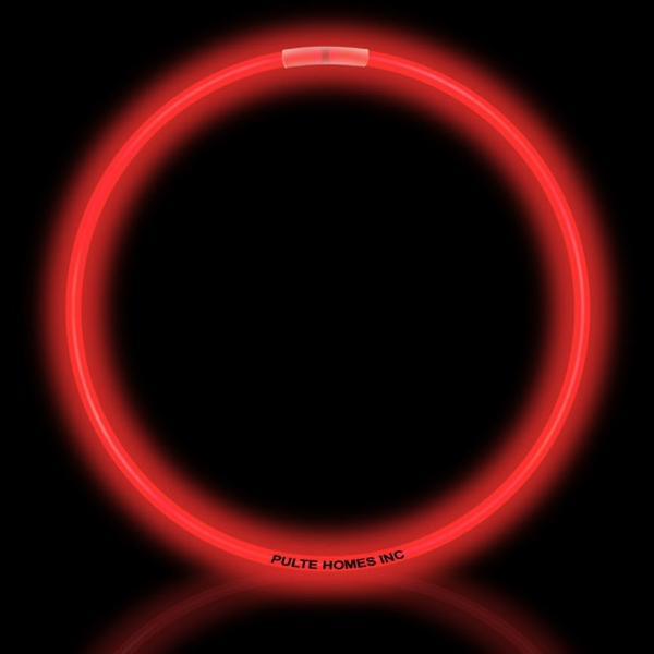 "Custom Red 22"" Superior Single Color Light Up Glow Necklace"