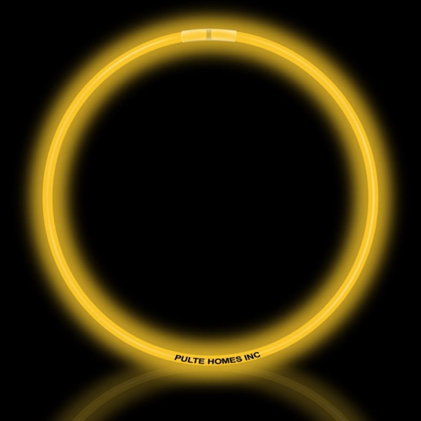 """Customized Yellow 22"""" Superior Single Color Light Up Glow Necklace"""