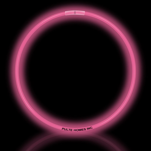 "Customized Pink 22"" Superior Single Color Light Up Glow Necklace"