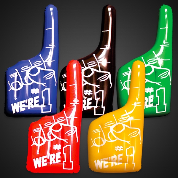 Printed Inflatable We're  Number One Hand Variety Pack