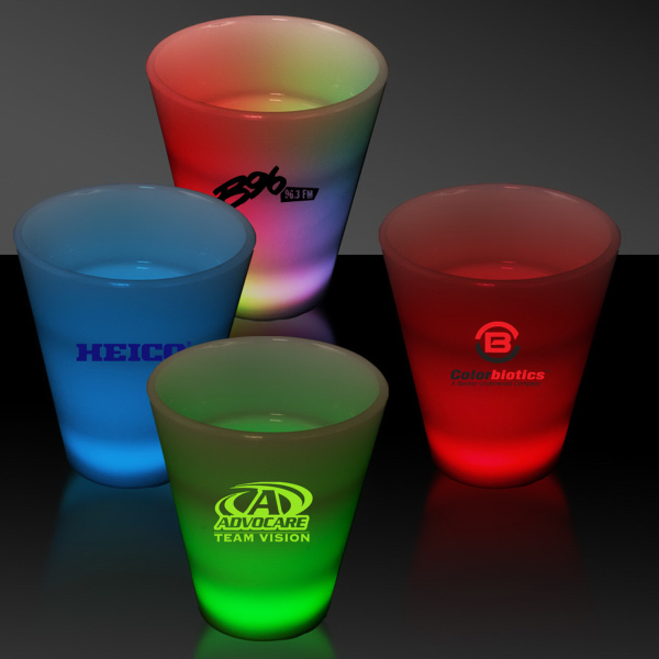 Promotional LED Neon Light Up Glow Look 2 oz Shot Glass
