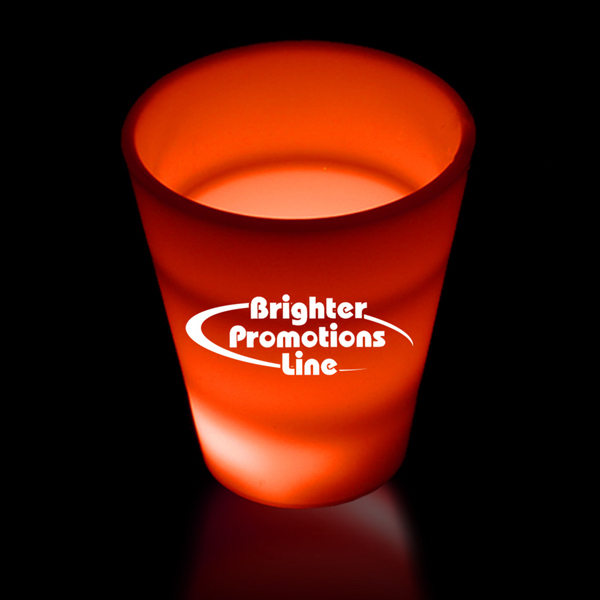 Printed Red LED Light Up Glow Neon Look 2 oz Shot Glass