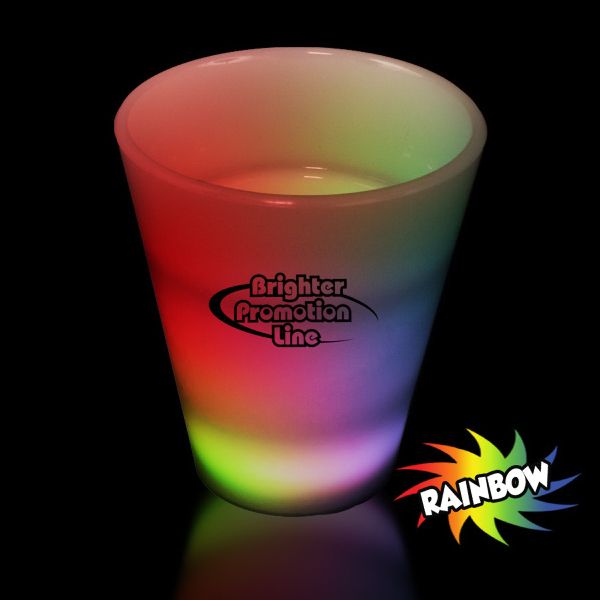 Promotional Multi Color LED Light Up Glow Neon Look 2 oz Shot Glass