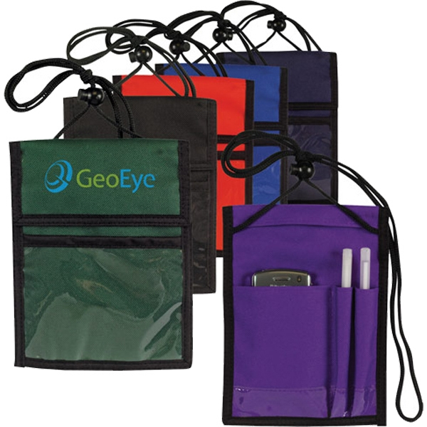 Promotional Multi-Pocket Neck Wallet / Badge Holder