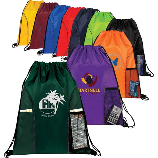 Imprinted Sports Drawstring Backpack