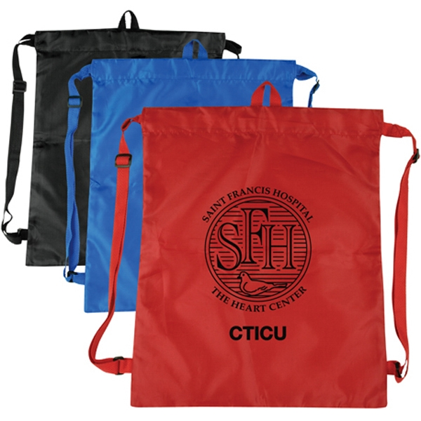 Imprinted Basic Drawstring Shoulder Pack