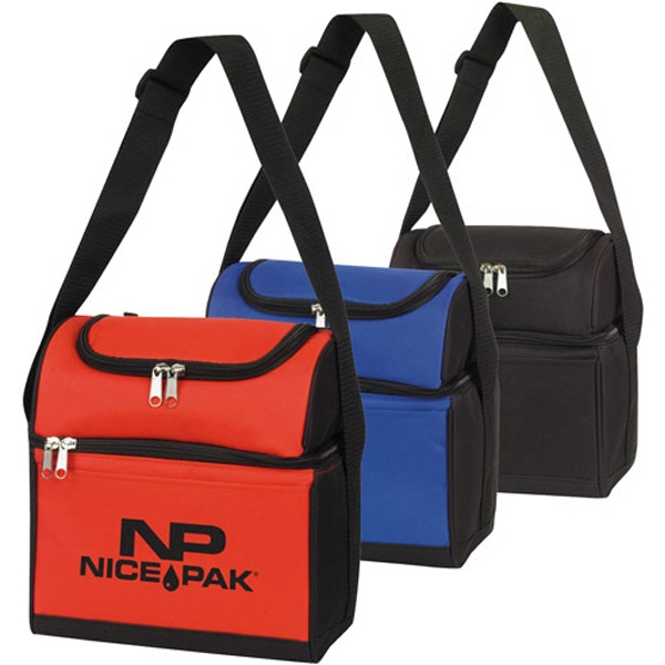 Customized Round Top Dual Compartment 6-Pack Cooler
