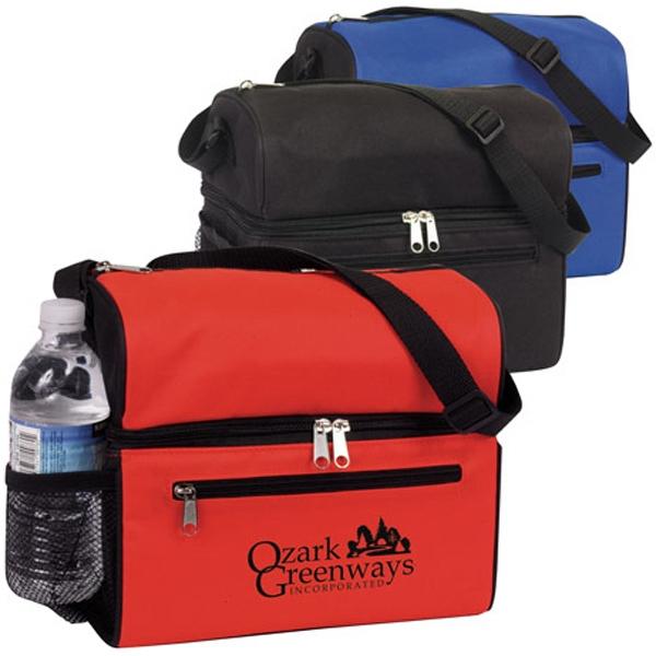 Promotional Round Top Dual Compartment 8-Pack Cooler