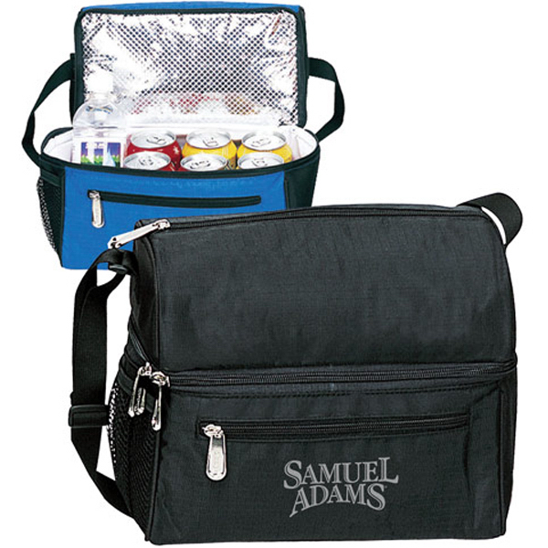 Custom Deluxe Round Top Dual Compartment 8-Pack Cooler