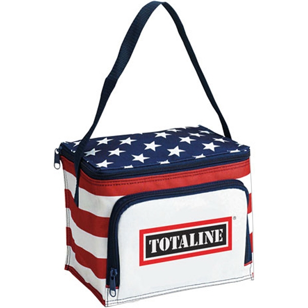 Imprinted Patriot 6-Pack Cooler
