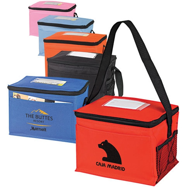 Personalized Classic 6-Pack Cooler with ID Holder