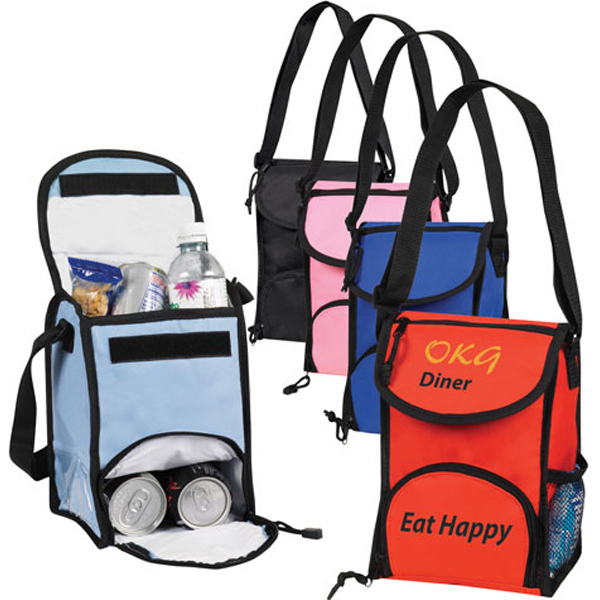 Printed Dual Compartment Lunch Sack