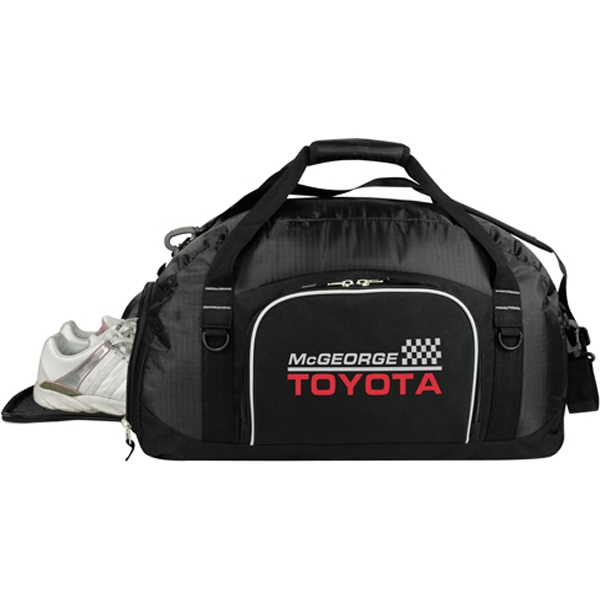 Printed Deluxe Half-Dome Duffel with Shoe Tunnel