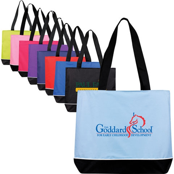 Promotional Large Zippered Promo Tote