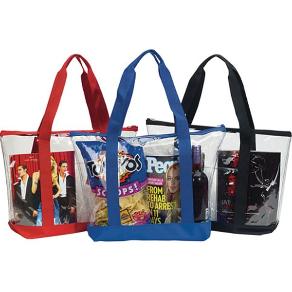 Promotional Transparent Zippered Tote