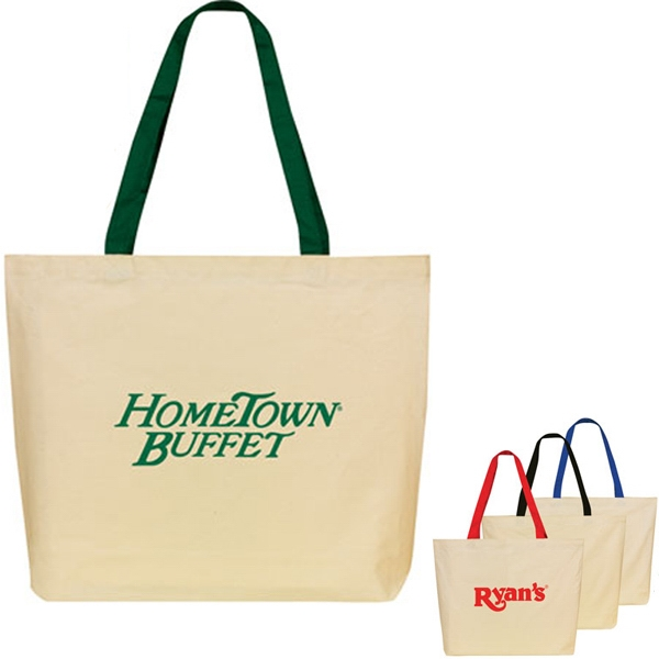 Printed Lightweight Cotton Shopping Tote