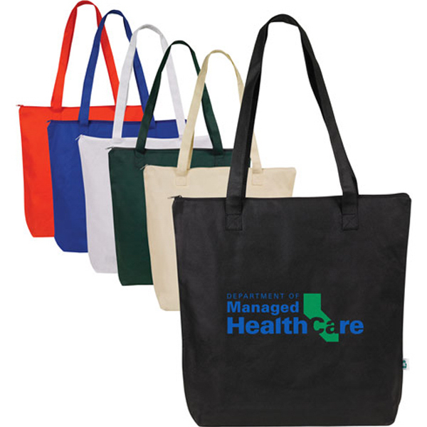 Promotional Nonwoven Zippered Tote