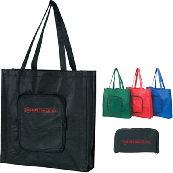 Printed Nonwoven Foldable Tote