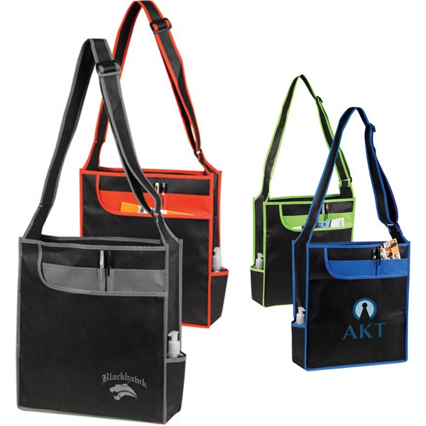 Custom Nonwoven Messenger ShoulderTote