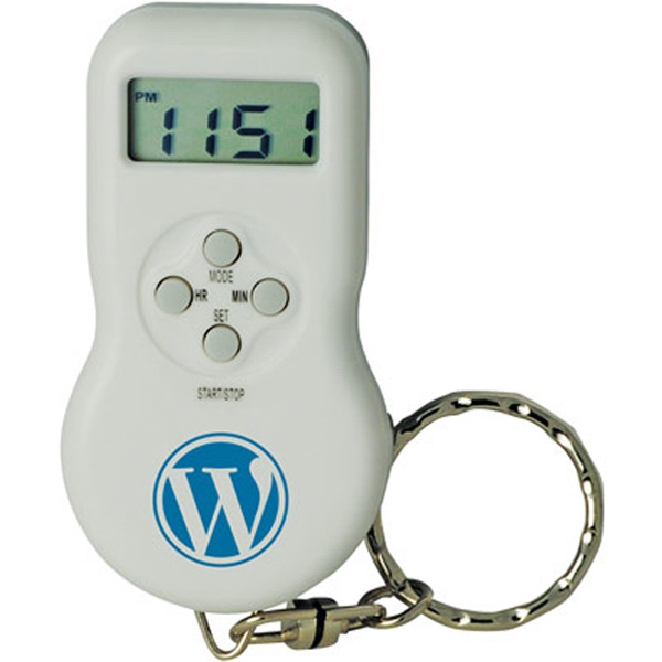 Promotional Parking Timer Clock with Voice Recorder on Key Chain