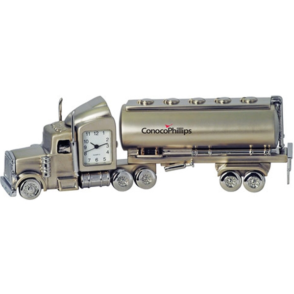 Custom Oil Tanker Metal Quartz Clock