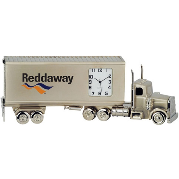 Custom Container Truck Metal Quartz Clock