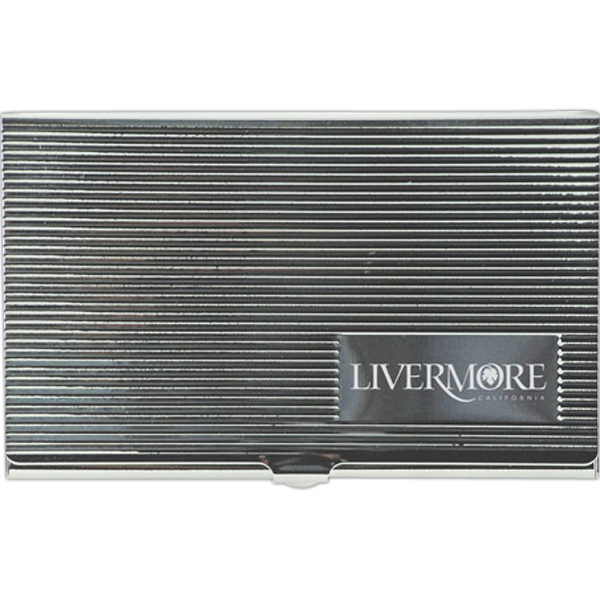 Imprinted Metal Business Card Case